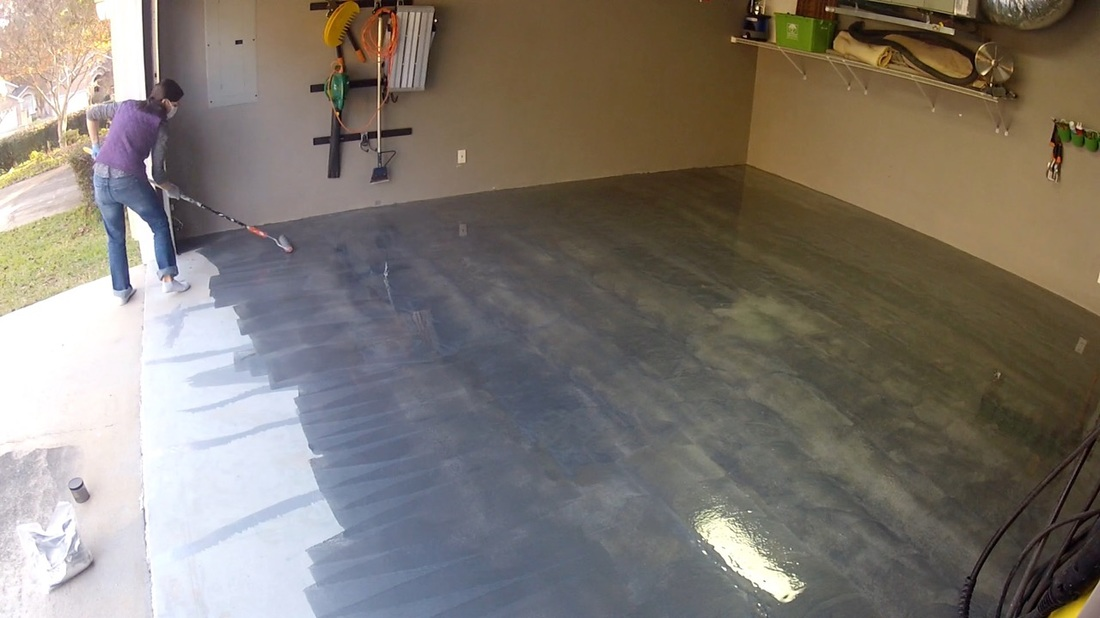 rust-oleum rocksolid floor coating - mother daughter projects