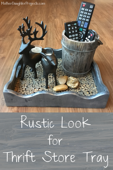 Rustic Tray. Mother Daughter Projects.