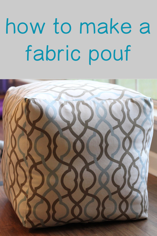 How To Make A Fabric Pouf Mother Daughter Projects
