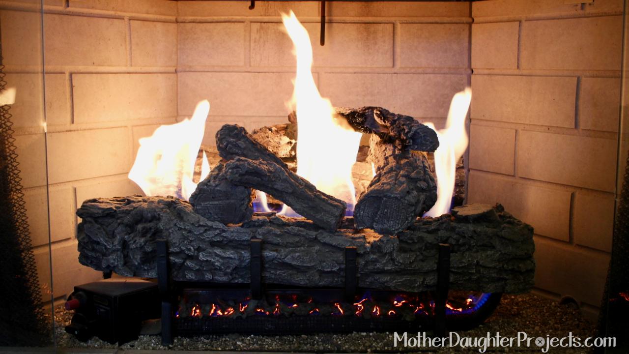 glowing embers for fireplace mother daughter projects