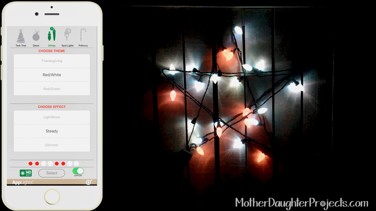 Outdoor Smart Holiday Lights. MotherDaughterProjects.com