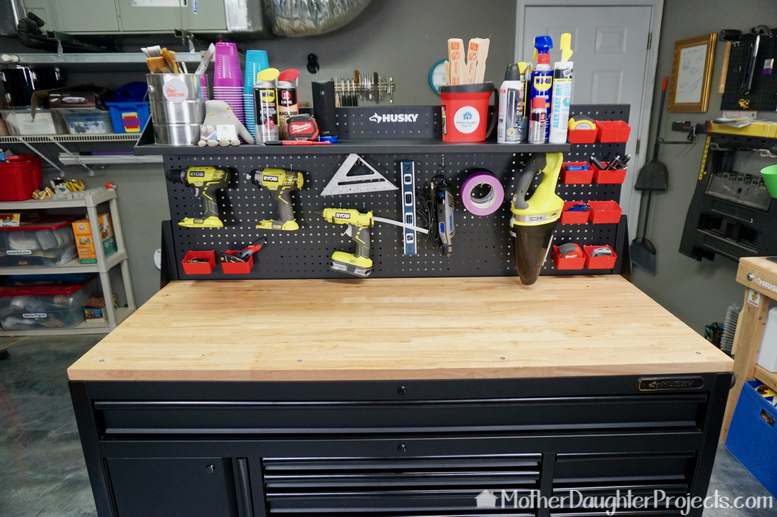 See some features of this Home Depot mobile workbench and why it's a good storage solution for a homeowners garage!