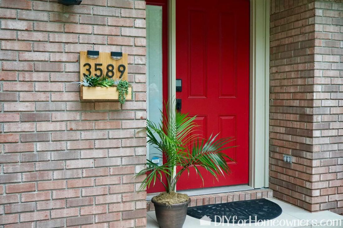 Diy Modern Address Sign With Planter Mother Daughter Projects