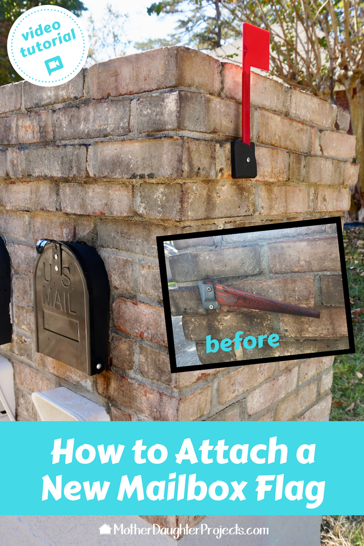 Add Curl Appeal With A New Mailbox Flag Mother Daughter Projects