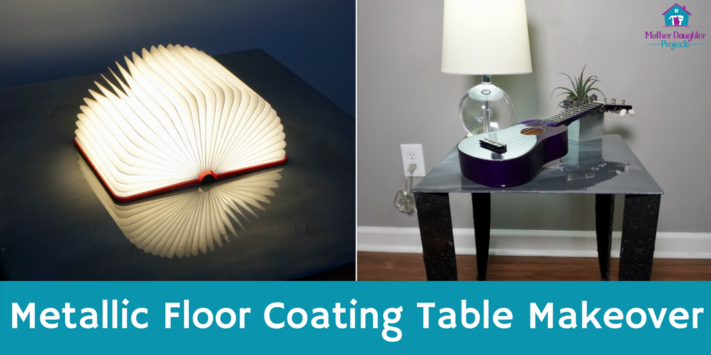 Learn how to add a rusted look to furniture and a smooth metallic table top.