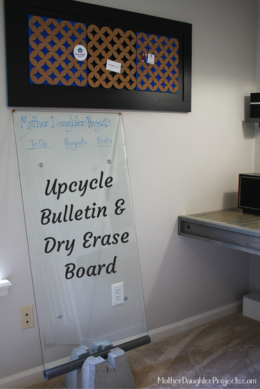 Upcycle Bulletin & Marker Board. Mother Daughter Projects,