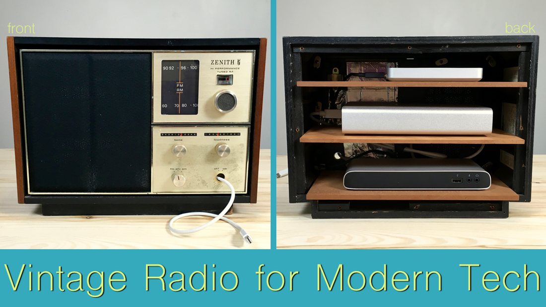 Vintage Radio for Modern Tech. MotherDaughterProjects.com