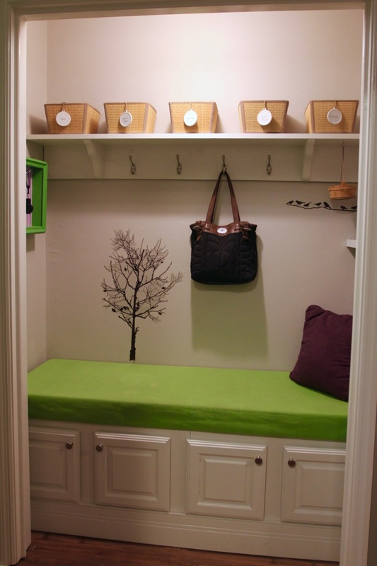 Closet to mudroom. MotherDaughterProjects.com