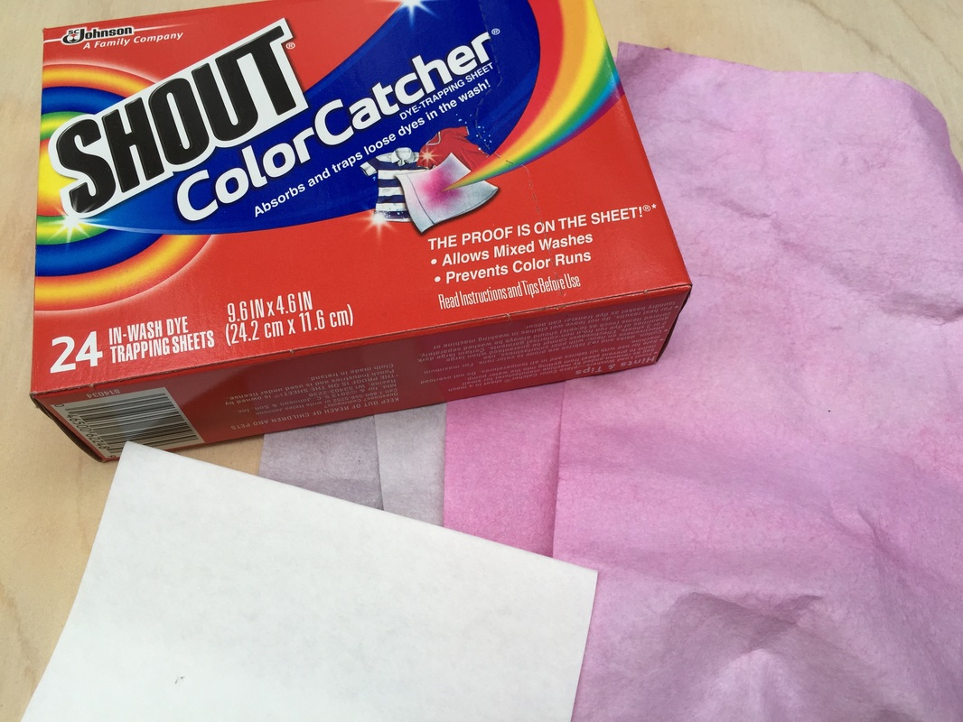 We like Shout ColorCatcher Sheets. MotherDaughterProjects.com