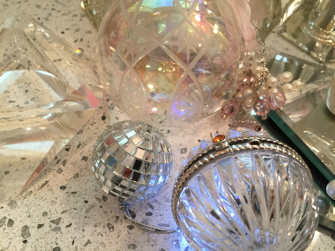 Some of the sparkly things added to the table decor. MotherDaughterProjects.com
