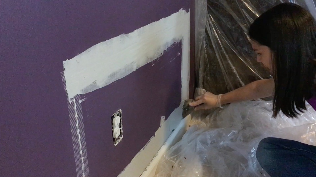 Drywall Repair. Mother Daughter Projects.