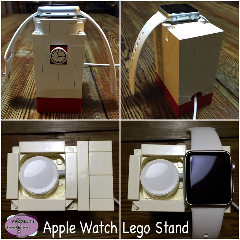 Apple Watch Lego Dock. MotherDaughterProjects.com