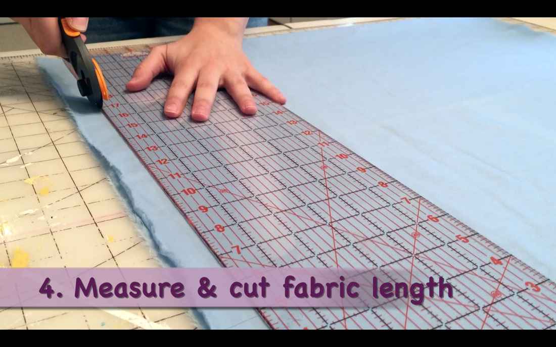 How to Make a Pillowcase Dress: Step 4 measure & cut fabric to length. MotherDaughterProjects.com