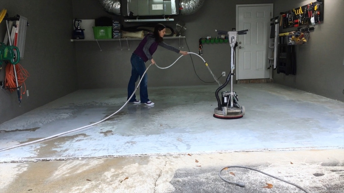 Metallic Garage Floor. MotherDaughterProjects.com