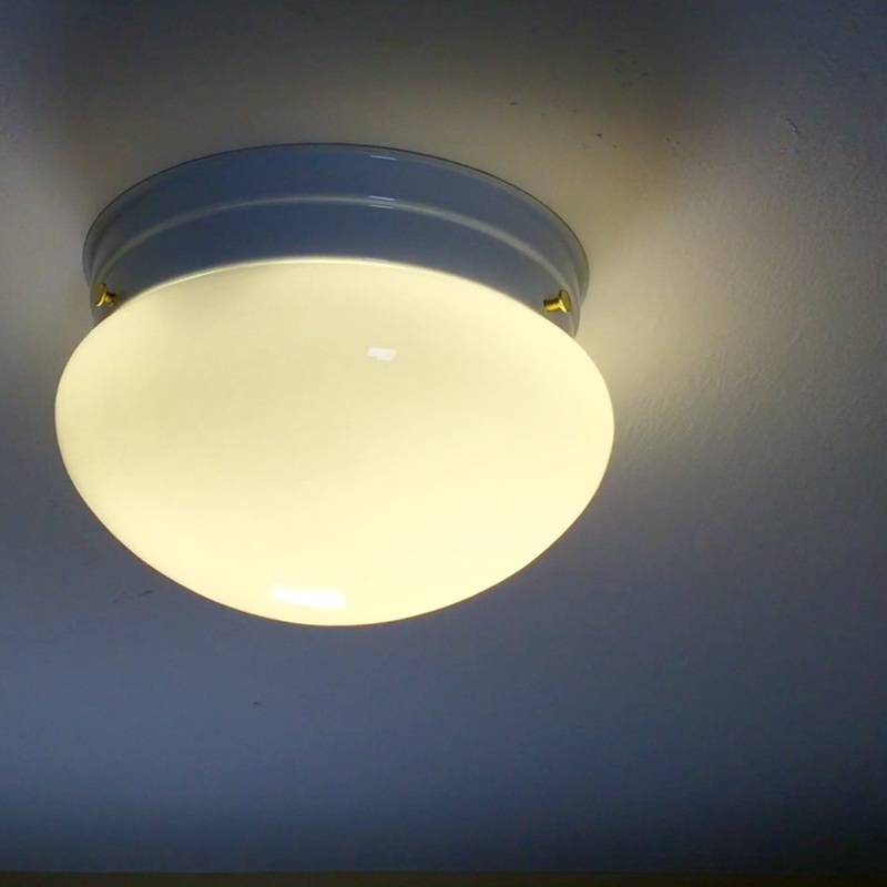 Replace a flush mount ceiling light. MotherDaughterProjects.com