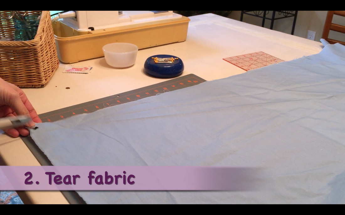 PictureHow to Make a Pillowcase Dress: Step 2 prepare fabric for straightening. MotherDaughterProjects.com