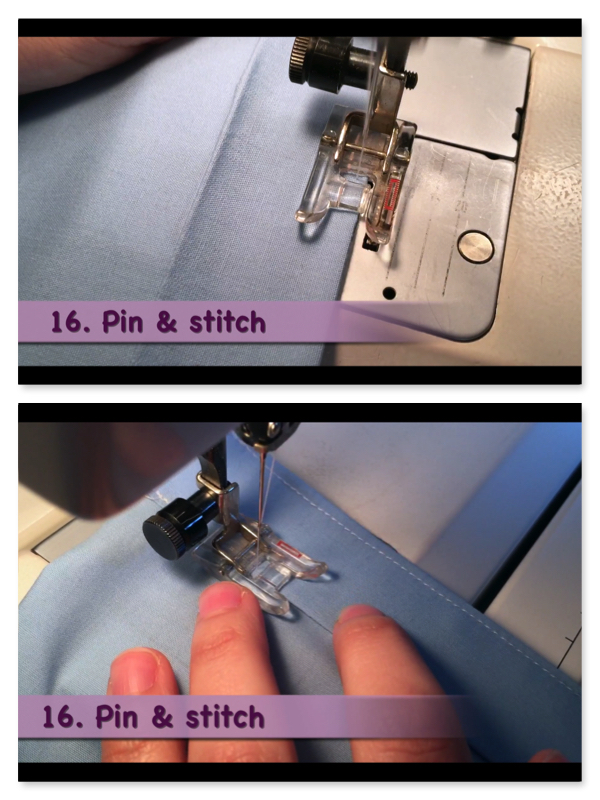 How to Make a Pillowcase Dress: Step 16, Stitch the casings close to the top edge and again on the folded edge. MotherDaughterProjects.com