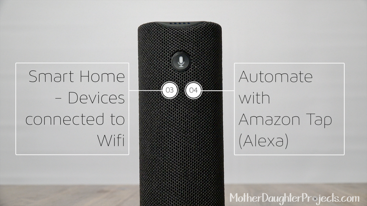Learn how to use Amazon tap to control Home Automation and more. Also, learn to connect an Echo Dot to Tap for hands-free voice control with Alexa.