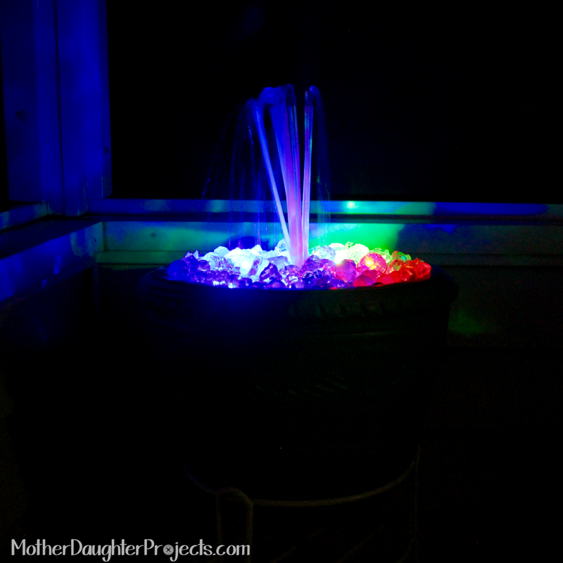 DIY Fountain. MotherDaughterProjects.com