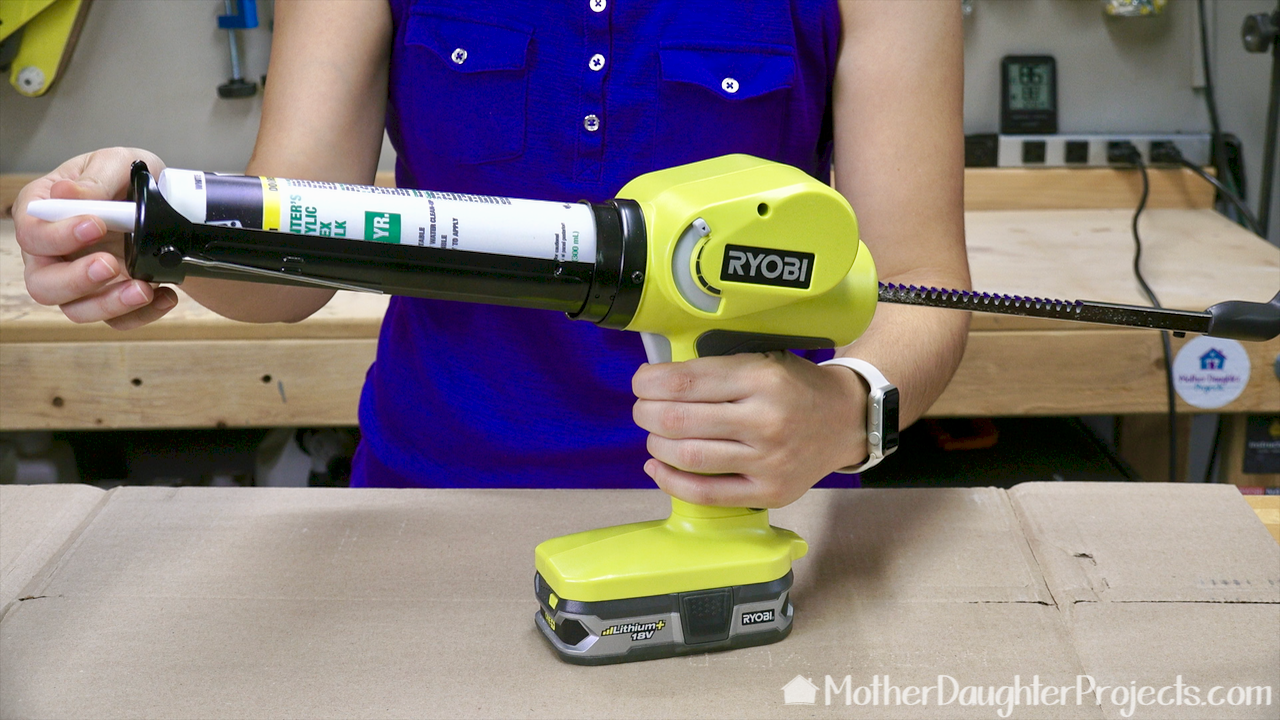 Learn how to use a battery power caulk and adhesive gun. See it in action to seal an outdoor concrete crack.