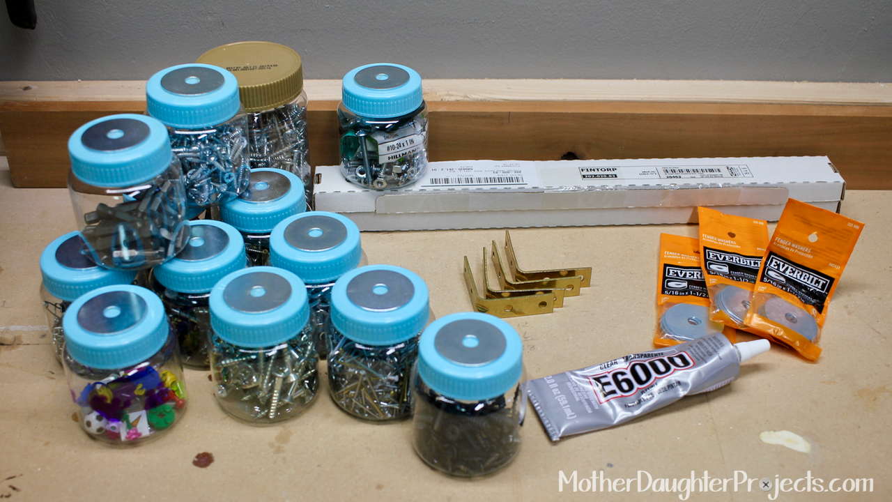 Learn how to use a magnetic rack from Ikea to add some garage storage for your screws, nuts, nails and more!