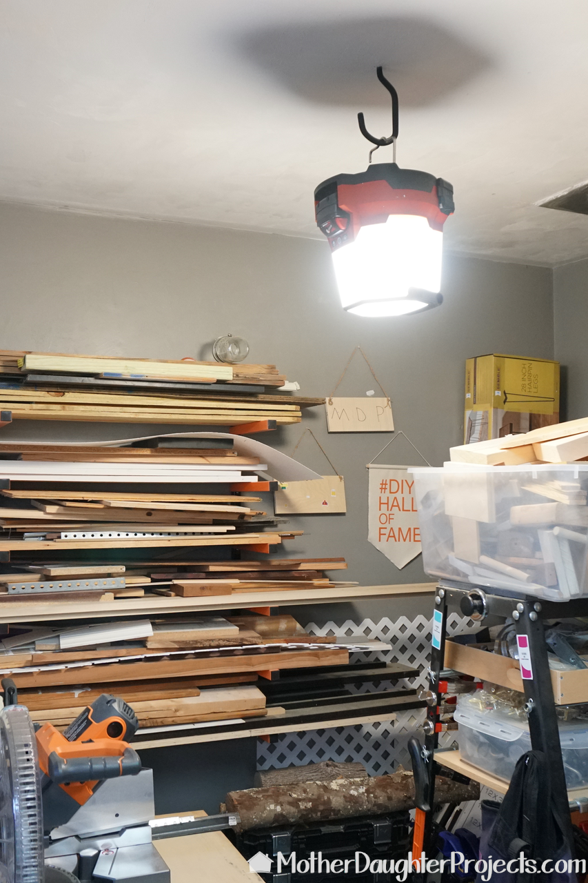 See how to get some extra lighting for that dark corner of your garage. This hybrid, portable light is great for diy projects, power outages and more!
