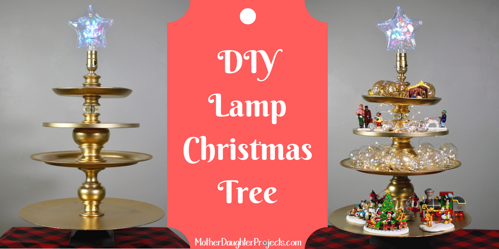 DIY Lamp Christmas Tree. MotherDaughterProjects.com