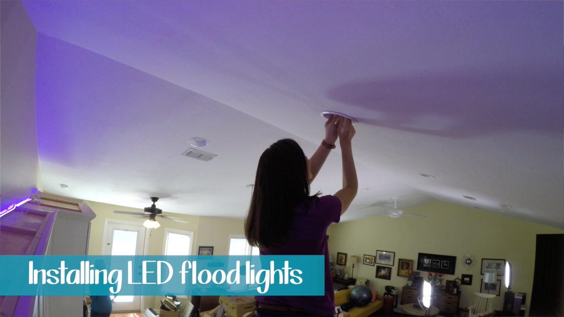 LED Light for Home. MotherDaughterProjects.com