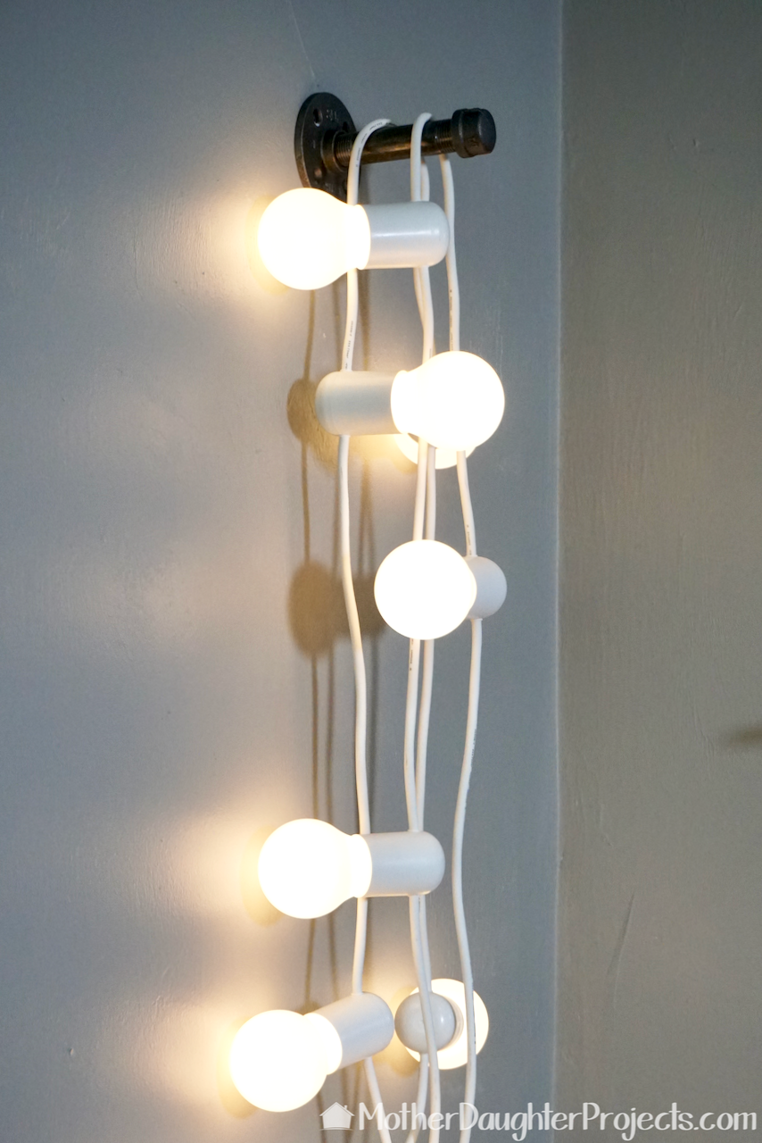 Here is a quick LED lighting idea for any home using metal pipe!