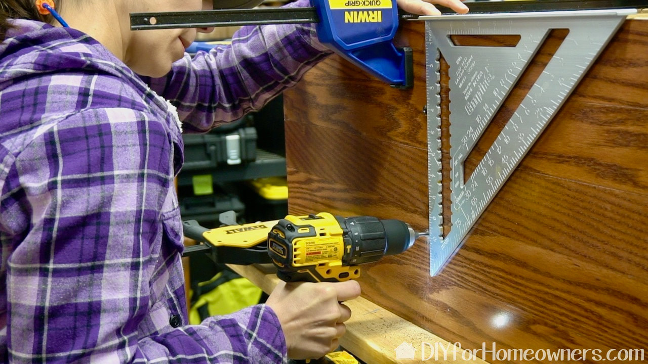 Using the new DeWalt Drill/driver.