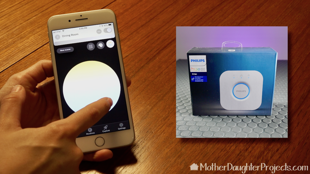 A Philips Hue Bridge is necessary for the smart features to work.