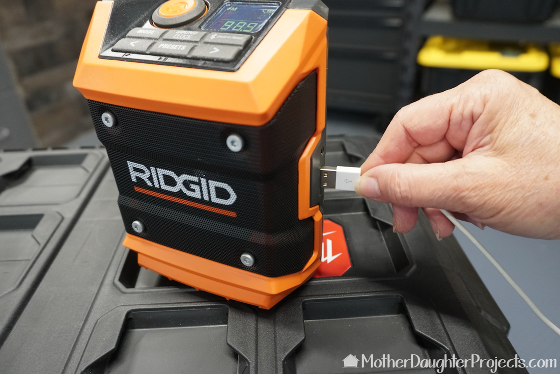 A reliable battery powered radio is a must for storm system. Ridgid makes one that is perfect.