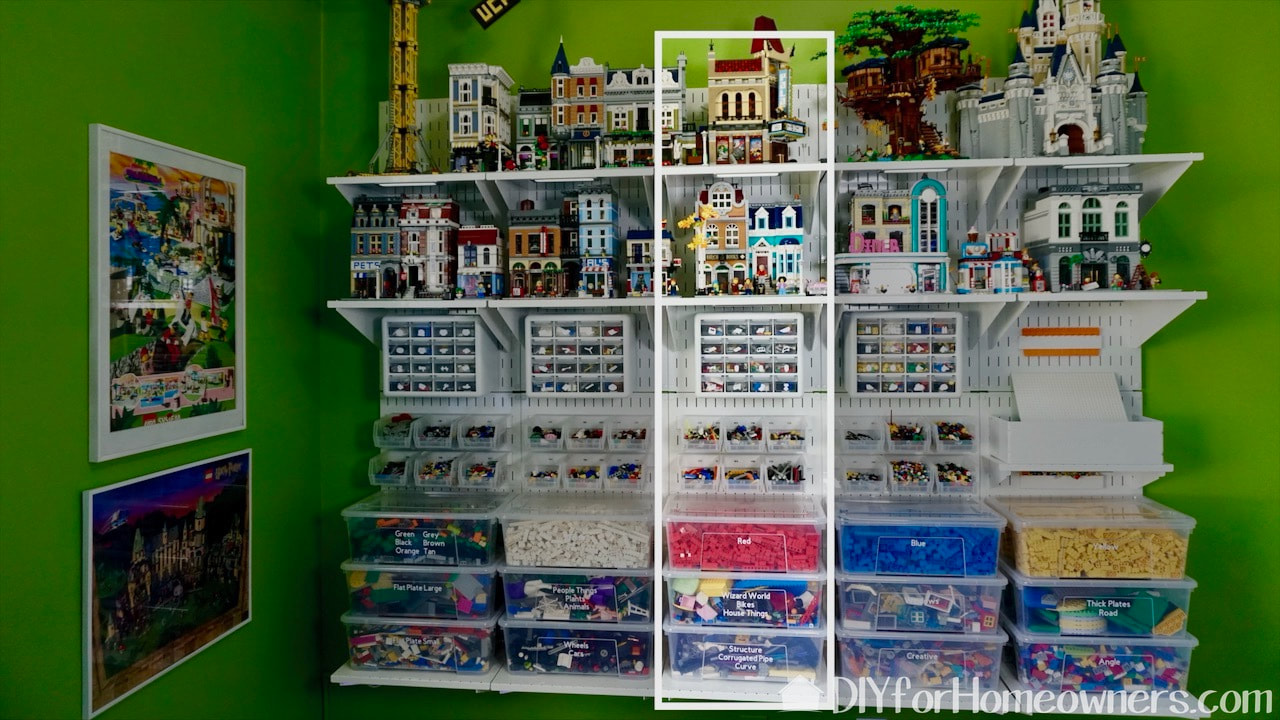 One section of the Lego display and storage system can function on its own.