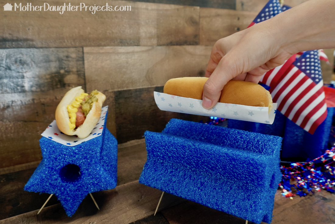 This is a fun way to serve hotdogs!