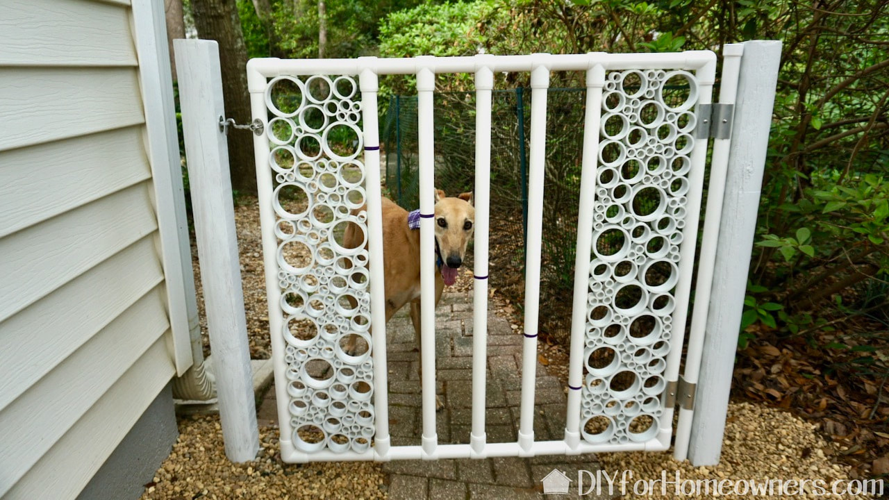 PVC garden gate with Formufit PVC pipe.