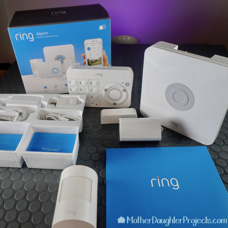 The Ring Alarm kit shown taken out of the box.