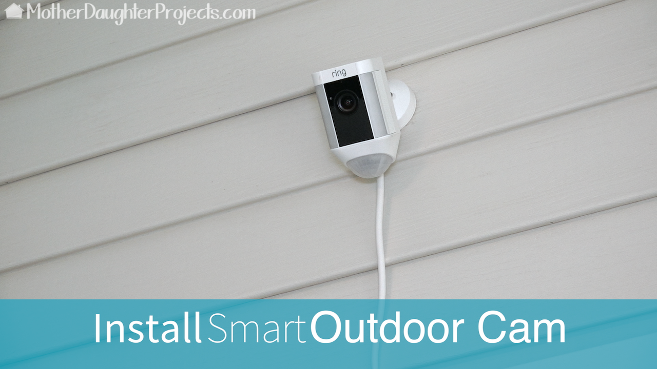 How to install the Ring outdoor security camera.