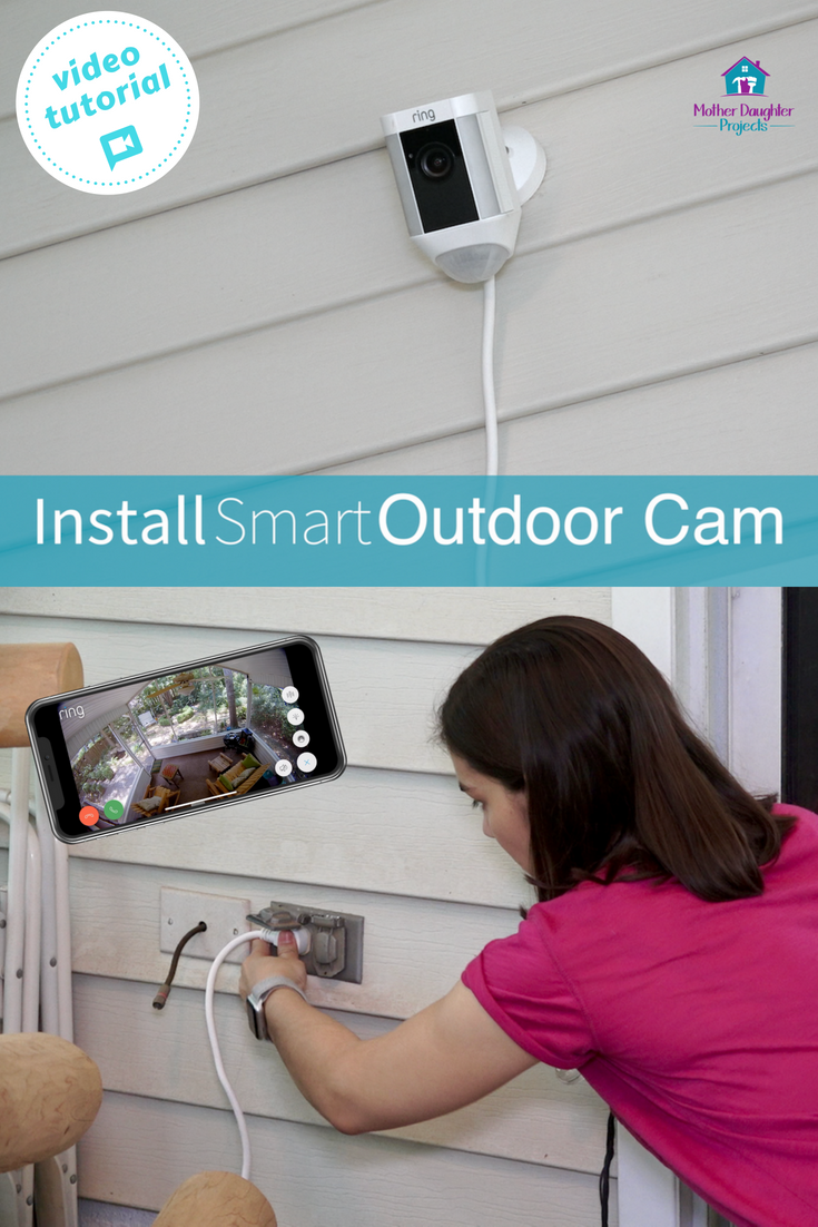 Video tutorial! Learn about the Ring exterior camera and how the app works. Watch what is happening in your backyard with this security cam! #smarthome #homedepot #ring #camera #patio