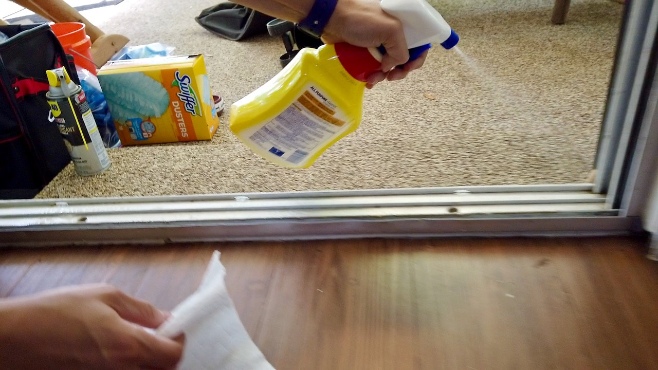 We are using Lysol household cleaner.