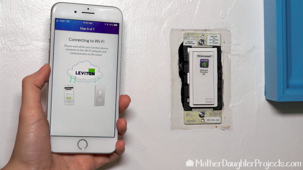 Pair the Leviton Decora Smart Wi-Fi 15A LED/ Switch with the app.