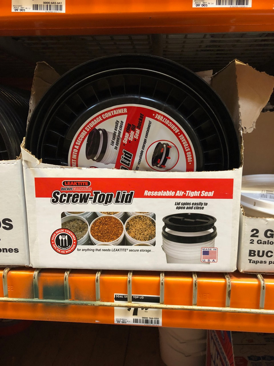 You'll need one of the screw top lids for your five gallon bucket.