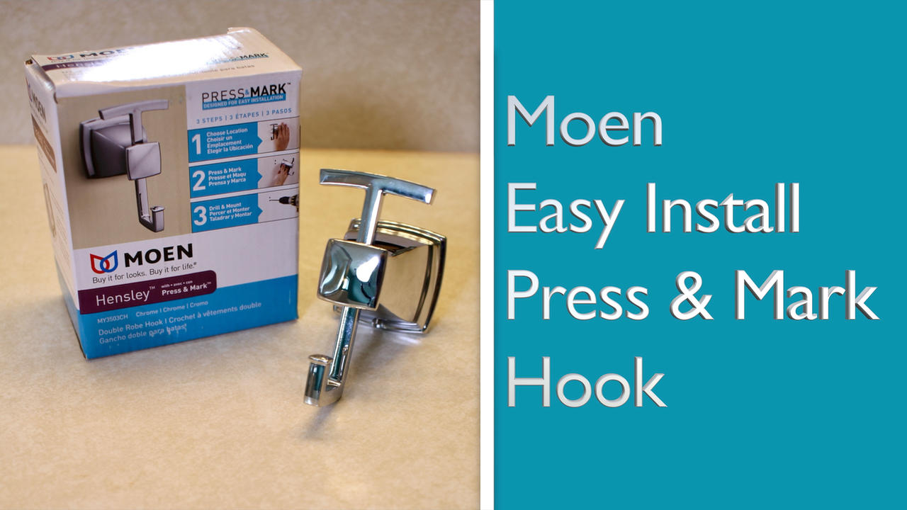 Learn about the new easy install hook from Moen.
