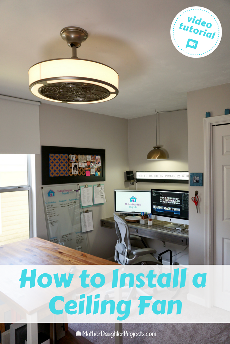Video how-to: Learn to DIY install the stile ceiling fan and LED light with enclosed blades! Remote control included.