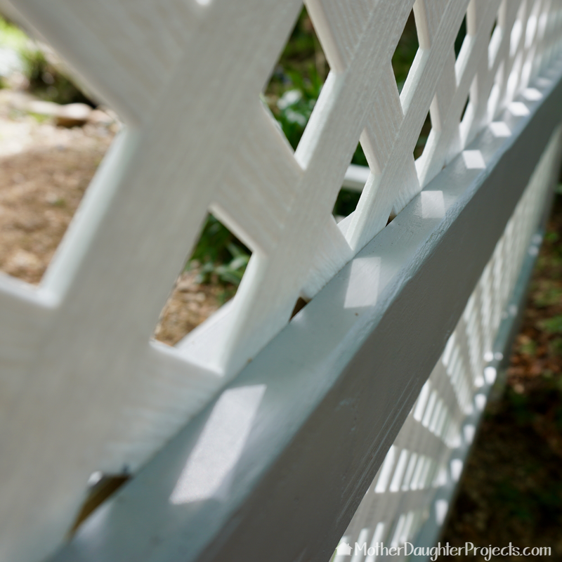 Learn how to customize an Ana White bench plan to make a backyard garden privacy screen with concrete seat.