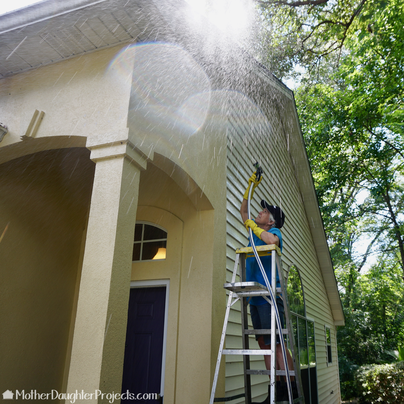 Learn about the tools and prep needed to paint stucco siding. #sponsored #homedepot #sprayer