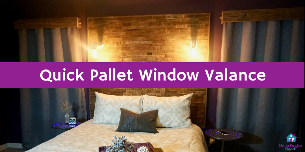 Learn how to make a window valance for any curtain. Perfect for a rustic feel.