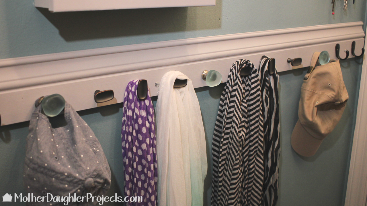 Learn how to DIY storage for scarves, hats, jewelry, belts and more. Great for a small or walk-in closet.