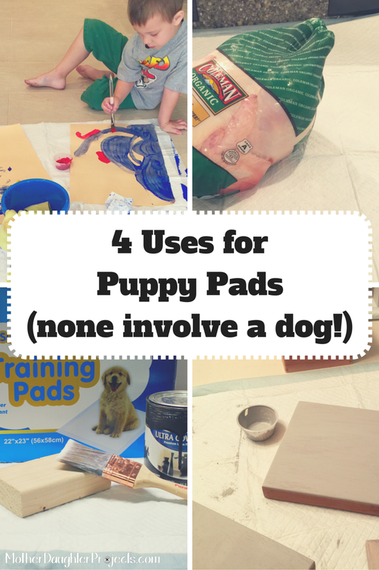 4 Uses for Puppy Pads. Mother Daughter Projects.