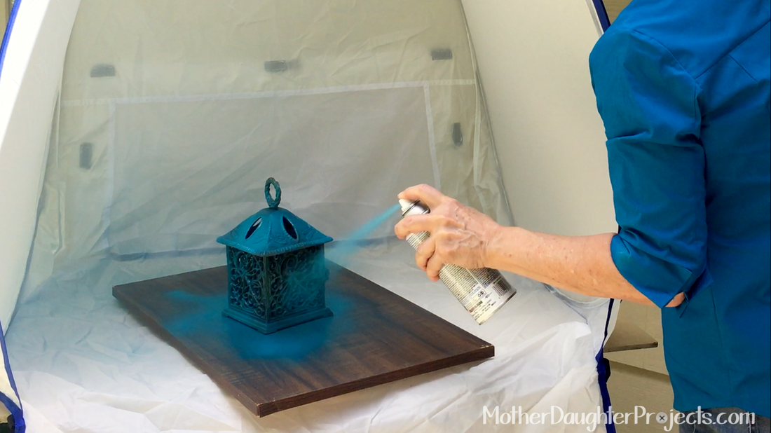Spray Paint Tent. MotherDaughterProjects.com