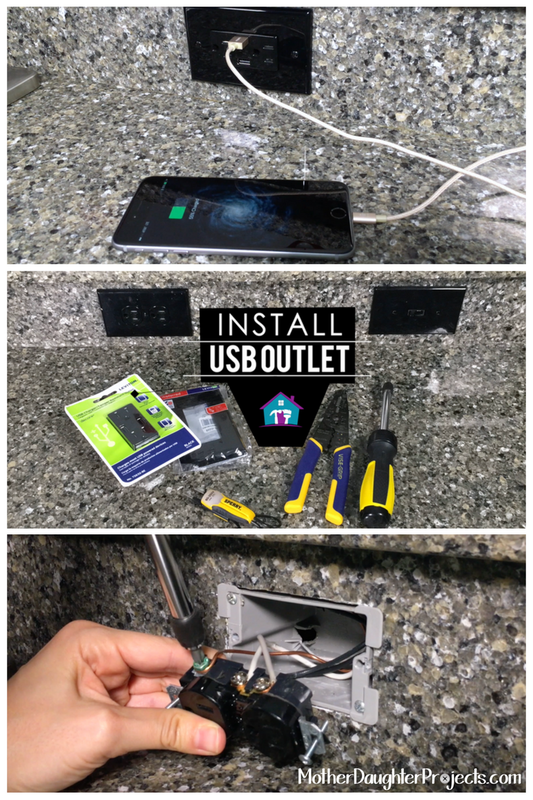 Install USB Outlet. MotherDaughterProjects.com